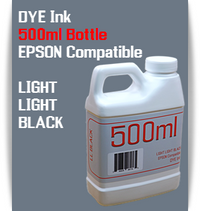 Light Light Black 500ml Dye Bottle Ink Epson Stylus Pro Printers