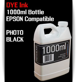 Photo Black 1000ml Dye Bottle Ink Epson Stylus Pro Printers