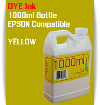 Yellow 1000ml Dye Bottle Ink Epson Stylus Pro Printers