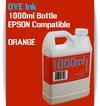 Orange 1000ml Dye Bottle Ink Epson Stylus Pro Printers
