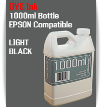 Light Black 1000ml Dye Bottle Ink Epson Stylus Pro Printers