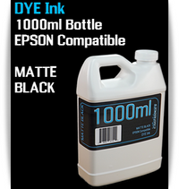 Matte Black 1000ml Dye Bottle Ink Epson Stylus Pro Printers