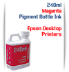 Magenta 240ml Pigment Bottle Ink Epson All in One Desktop Printers