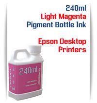 Light Magenta 240ml Pigment Bottle Ink Epson All in One Desktop Printers