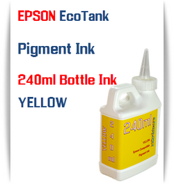 Yellow EPSON EcoTank 240ml Pigment Bottle Ink