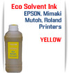 Yellow Eco Solvent Ink 1000ml bottle ink - EPSON, Roland, Mimaki, Mutoh printers