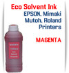 Magenta Eco Solvent Ink 1000ml bottle ink - EPSON, Roland, Mimaki, Mutoh printers