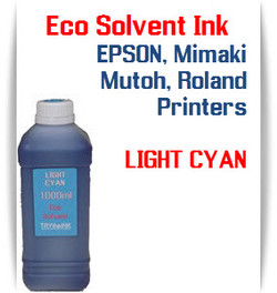 Light Cyan Eco Solvent Ink 1000ml bottle ink - EPSON, Roland, Mimaki, Mutoh printers