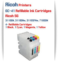 RICOH GC-41 - 4 Color Refillable Ink Cartridges