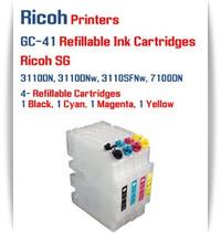 RICOH GC-41 - 4 Color Refillable Ink Cartridges