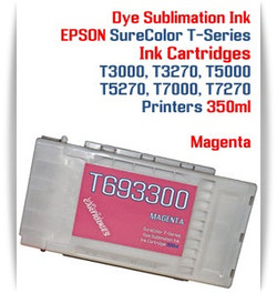 Magenta EPSON SureColor T-Series Compatible Dye Sublimation ink Cartridge 350ml