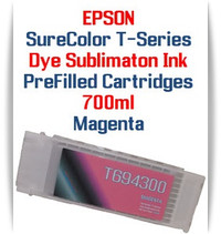 Magenta T694300 EPSON SureColor T-Series Compatible Dye Sublimation ink Cartridge 700ml