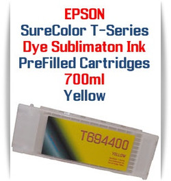Yellow T694400 EPSON SureColor T-Series Compatible Dye Sublimation ink Cartridge 700ml