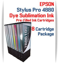 8 Cartridge Package - Epson Stylus Pro 4880 Dye Sublimation Ink Cartridges 220ml