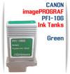 Green PFI-106 Canon imagePROGRAF Compatible Pigment Ink Tanks 130ml