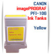 Yellow PFI-106 Canon imagePROGRAF Compatible Pigment Ink Tanks 130ml