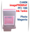 Photo Magenta PFI-106 Canon imagePROGRAF Compatible Pigment Ink Tanks 130ml
