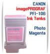 Photo Magenta PFI-106 Canon imagePROGRAF Compatible Pigment Ink Tank 130ml