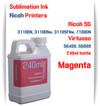 Magenta RICOH 240ml bottle Sublimation Ink   Ricoh SG 3110DN 3110DNw 3110SFNw 7100DN printers  Virtuoso SG400, SG800 printers