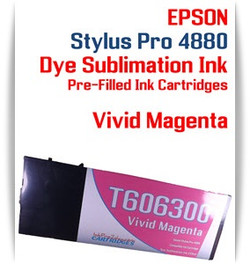 Vivid Magenta Epson Stylus Pro 4880 Dye Sublimation Ink Cartridge 220ml