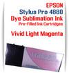 Vivid Light Magenta Epson Stylus Pro 4880 Dye Sublimation Ink Cartridge 220ml