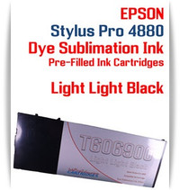 Light Light Black Epson Stylus Pro 4880 Dye Sublimation Ink Cartridge 220ml