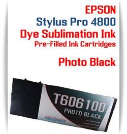 Photo Black Epson Stylus Pro 4800 Dye Sublimation Ink Cartridges 220ml