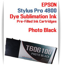 Photo Black Epson Stylus Pro 4800 Dye Sublimation Ink Cartridges 220ml