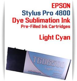 Light Cyan Epson Stylus Pro 4800 Dye Sublimation Ink Cartridges 220ml