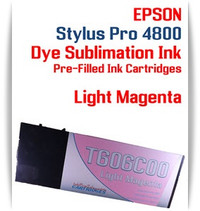 Light Magenta Epson Stylus Pro 4800 Dye Sublimation Ink Cartridges 220ml