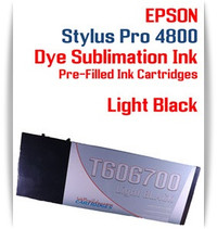 Light Black Epson Stylus Pro 4800 Dye Sublimation Ink Cartridges 220ml