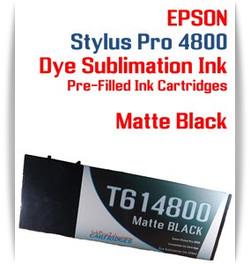 Matte Black Epson Stylus Pro 4800 Dye Sublimation Ink Cartridges 220ml