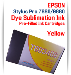 Yellow Epson Stylus Pro 7880/9880 Pre-Filled with Dye Sublimation Ink Cartridge 220ml