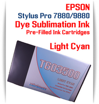 Light Cyan Epson Stylus Pro 7880/9880 Pre-Filled with Dye Sublimation Ink Cartridge 220ml