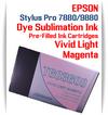 Vivid Light Magenta Epson Stylus Pro 7880/9880 Pre-Filled with Dye Sublimation Ink Cartridge 220ml