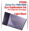 Light Black Epson Stylus Pro 7880/9880 Pre-Filled with Dye Sublimation Ink Cartridge 220ml