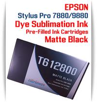 Matte Black Epson Stylus Pro 7880/9880 Pre-Filled with Dye Sublimation Ink Cartridge 220ml