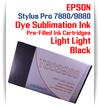 Light Light Black Epson Stylus Pro 7880/9880 Pre-Filled with Dye Sublimation Ink Cartridge 220ml