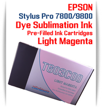 Light Magenta Epson Stylus Pro 7800/9800 Pre-Filled with Dye Sublimation Ink Cartridge 220ml each