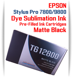 Matte Black Epson Stylus Pro 7800/9800 Pre-Filled with Dye Sublimation Ink Cartridge 220ml each