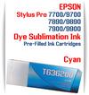 Cyan Epson Stylus Pro 7700/9700, 7890/9890, 7900/9900 Pre-Filled Dye Sublimation Ink Cartridge