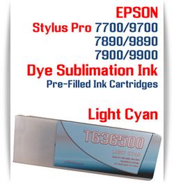 Light Cyan Epson Stylus Pro 7890/9890, 7900/9900 Pre-Filled Dye Sublimation Ink Cartridge
