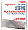 Light Black Epson Stylus Pro 7890/9890, 7900/9900 Pre-Filled Dye Sublimation Ink Cartridge