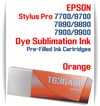 Orange Epson Stylus Pro 7900/9900 Pre-Filled Dye Sublimation Ink Cartridge