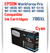 Cyan 786XL Epson WorkForce Pro Printer Compatible Ink Cartridge
