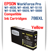 Yellow 786XL Epson WorkForce Pro Printer Compatible Ink Cartridge