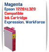 Magenta T220XL320 Epson Expression XP, WorkForce WF Compatible Printer Ink Cartridge  Epson Expression XP-320 Epson Expression XP-420 Epson Expression XP-424  Epson WorkForce WF-2630 Epson WorkForce WF-2650 Epson WorkForce WF-2660 Epson WorkForce WF-2750 Epson WorkForce WF-2760