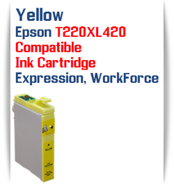 Yellow T220XL420 Epson Expression XP, WorkForce WF Compatible Printer Ink Cartridge  Epson Expression XP-320 Epson Expression XP-420 Epson Expression XP-424  Epson WorkForce WF-2630 Epson WorkForce WF-2650 Epson WorkForce WF-2660 Epson WorkForce WF-2750 Epson WorkForce WF-2760