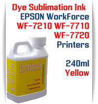 Yellow 240ml bottle Dye Sublimation Ink  Epson WorkForce WF-7210, WorkForce WF-7710, WorkForce WF-7720 printers
