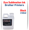 Black Dye Sublimation Ink Brother printers 240ml bottle ink